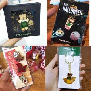 Starbucks Key Chain & Pin Merchandise