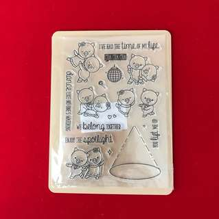 Scrapbooking clear stamp