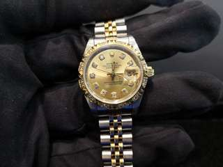 PREOWNED ROLEX Datejust, 69173 Yellow Rolesor, 26mm, Lady-size, W Series @ Year 1995 Ladies Watch