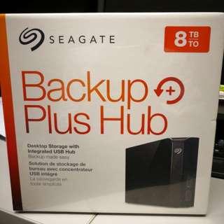 BNIB Seagate Backup Plus Hub 8TB Harddisk USB 3.0