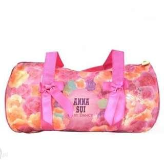 全新 New Anna Sui Gift Fairy Dance Pink Travel Bag 粉紅色行李袋