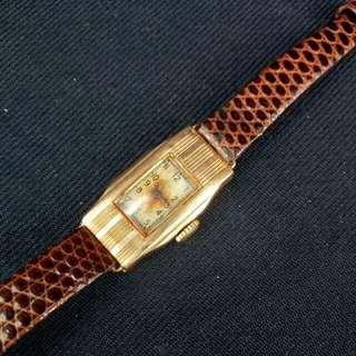 9k(375)金古董金錶 Lizard 蜥蜴帶