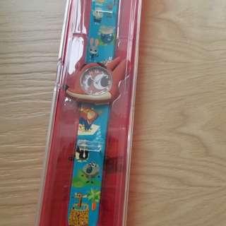 正品香港迪士尼卡動zootopia手錶