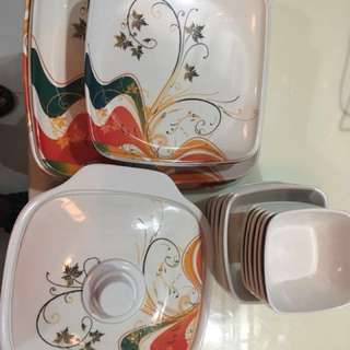 28 pieces very good condition Dinner set for sale ( melamine)