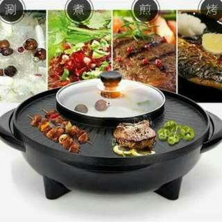 Korean Style 2 in 1 Multifunction Electric Hot Pot and Grill