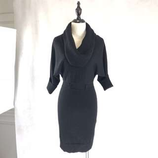 Karen Millen Black Knit Dress *COMPANY SAMPLE