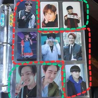 GOT7/SEVENTEEN un/Official photocards