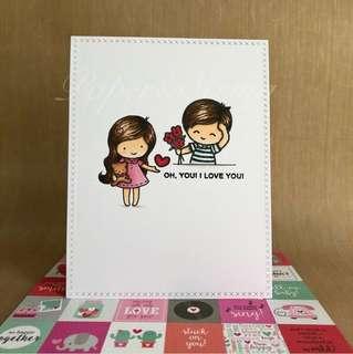 Valentines day card - Design Couple E