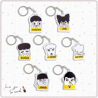 BTS MONSTER KEYCHAIN