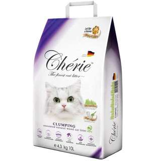 Cherie Natural Wood Clumpling Litter 10L - $19.00 / 3 For $54.00