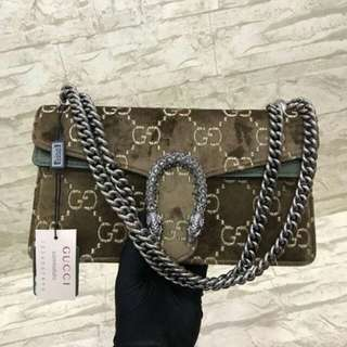 1BAG ONLY! GUCCI DIONYSUS GG VELVET SMALL (MIRROR 1:1 WITH AUTHENTIC)