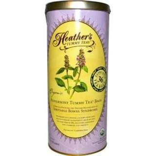 Heather's Tummy Care, Tummy Teas, Organic Peppermint Tea Bags, Caffeine Free, 36 Extra Large Tea Bags