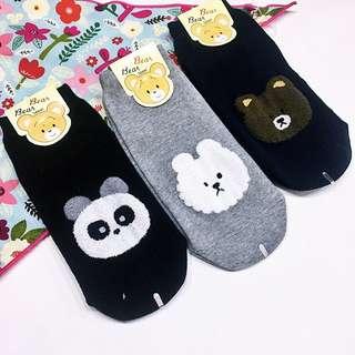 韓國 空運 Korea.可愛 動物 系列 棉襪 熊貓 兔子 棕熊 少量現貨