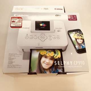Canon Selphy CP910 全新full set 照片打印機 特價hkd 400 送相紙一盒!包順豐寄公司地址或順豐自取