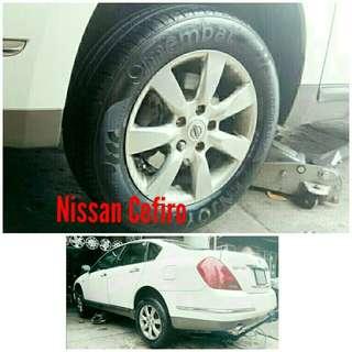 Tyre 215/60 R16 Membat on Nissan Cefiro 🐓 Super Offer 🙋