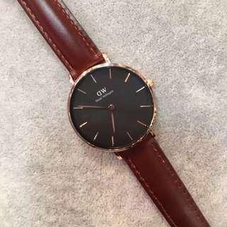 Dw 32mm皮帶錶