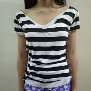 Stripes Top Lowback