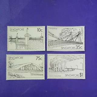 1985 Singapore Bridges Of Spore Stamp Set