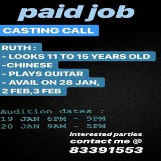 CASTING CALL FOR SHORT FILM