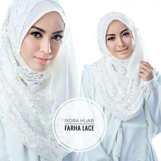 Jilbab Instan Farha Lace by Ixora (NEW)