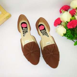 Sepatu Flat Shoes/ Flatshoes ZM30 Coklat