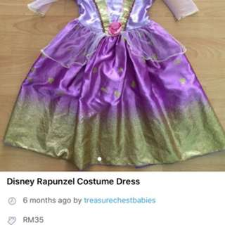 Disney Rapunzel Costume Dress