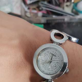 AUTHENTIC Fossil Ladies Watch with Swarovski Crystals