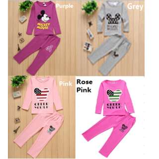 🎇🎇Ready Stock🎇🎇Long Sleeve Sleeping Sets - Unisex (Mickey Mouse)