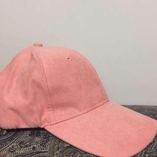 Blush Pink Suede Cap