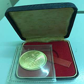 Singapore $150 Gold Coin with Box