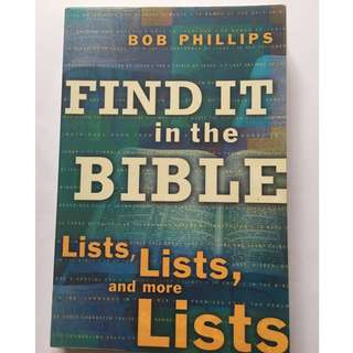 Finding it in the Bible by Bob Phillips
