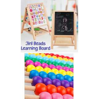 3in1 Beads Learning Board