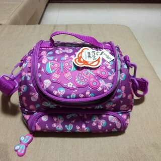 Smiggle lunch box purple with strap