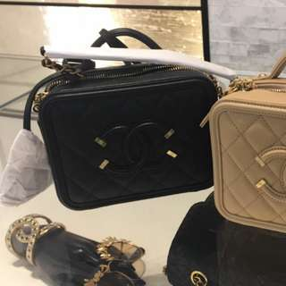 Chanel Vanity Case Black 17cm (Small/Mini)