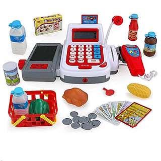 Supermarket Cashier Cash Register Toy Set (Digital Battery Operated)