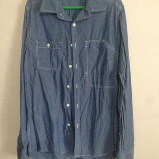 Kenneth Cole long sleeved collared shirt