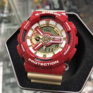 Casio G-Shock GA-110CS-4A GA-110 GA110CS ga-110cs-4a iron man 紅金 gshock