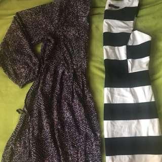 Floral dress, striped dress