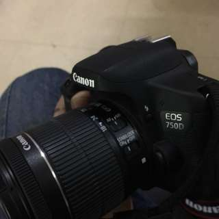 canon 750D - 18-55mm - 55-250mm , with bag and box !!!