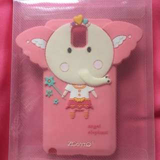 Pink Fairy Elephant Jelly Case for Samsung Galaxy Note 3