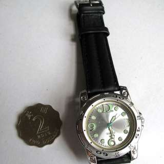 --全新,皮帶,夜光,369石英錶,,開倉價--勿壓價