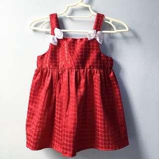 Oli Maroon Dress (3-9mos.)