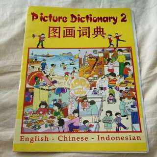 Picture dictionary English Chinese Indonesian