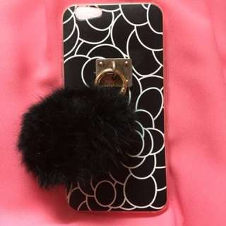 Black Jelly Case with Fur ball for Oppo F1s