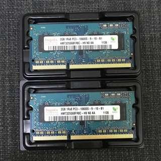 Hynix 2Gb*2 1333Mhz ddr3 ram MacBook Pro 用