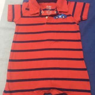Striped Red Romper (6-9 months)