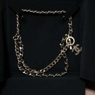 Chanel necklace 型格拼皮短鏈 full set with org receipt ,99%new