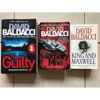 David Baldacci / 3 Books / The Guilty - Memory Man - King and Maxwell