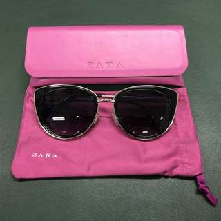 100% New ZARA Sunglasses with Shocking pink bag and case
