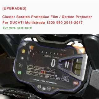 Ducati Multistrada 1200 Speedometer Screen Protector